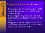 progressive systemic sclerosis