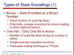 types of state encodings 1