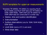 bufr templates for upper air measurements