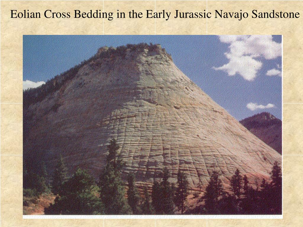 Eolian Cross Bedding in the Early Jurassic Navajo Sandstone