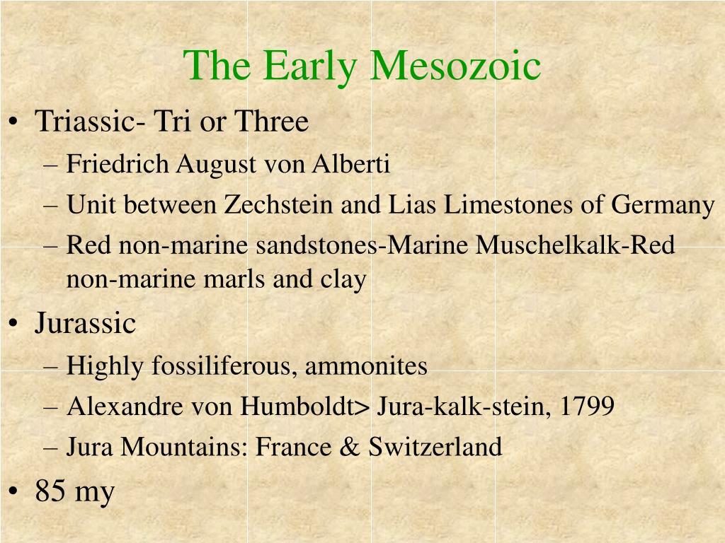 The Early Mesozoic