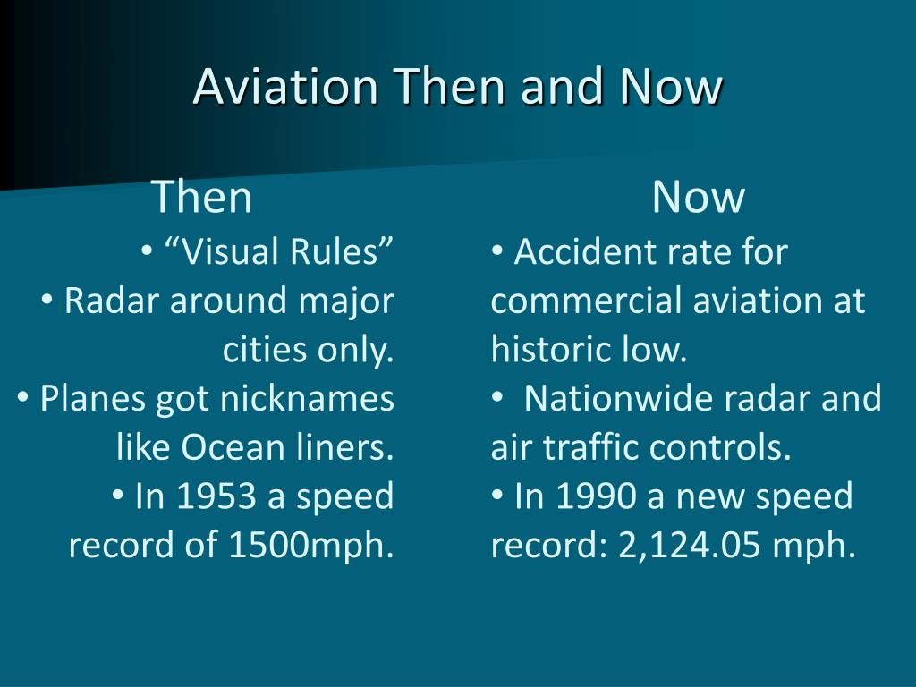 Aviation Then and Now
