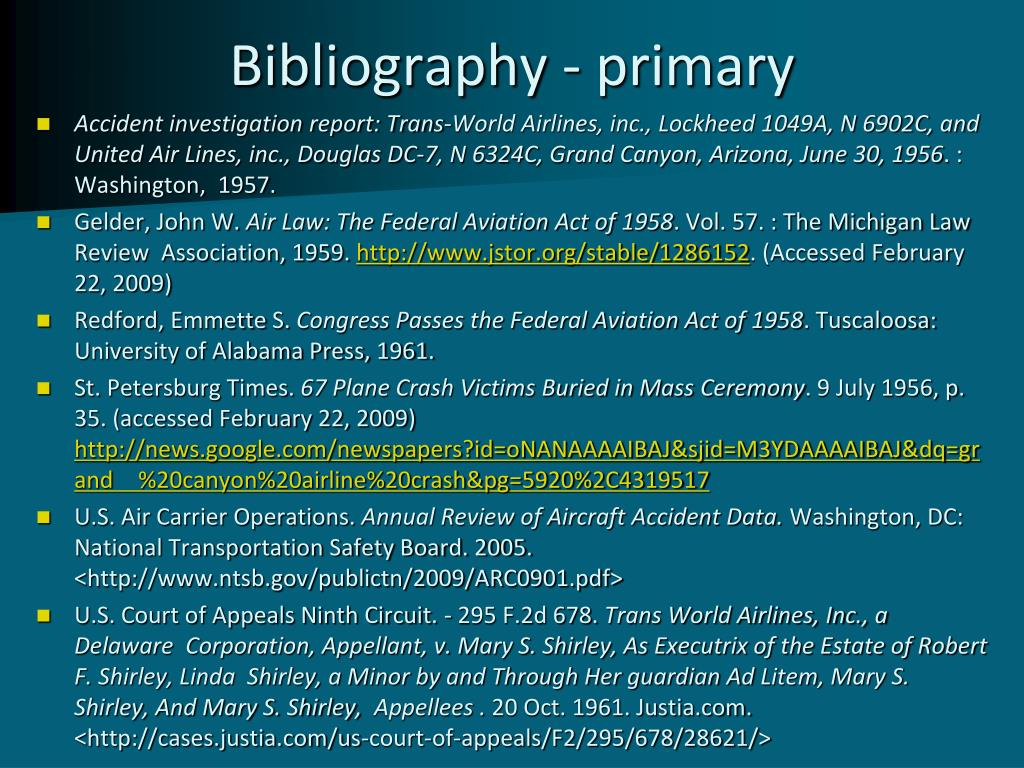 Bibliography - primary