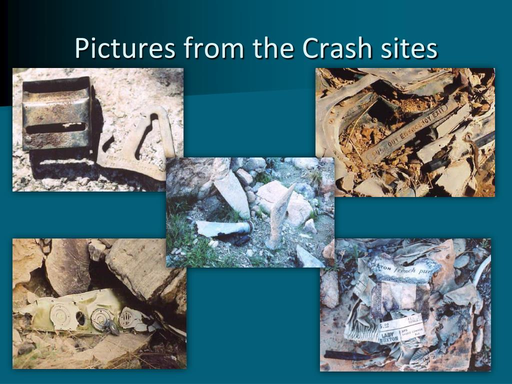 Pictures from the Crash sites
