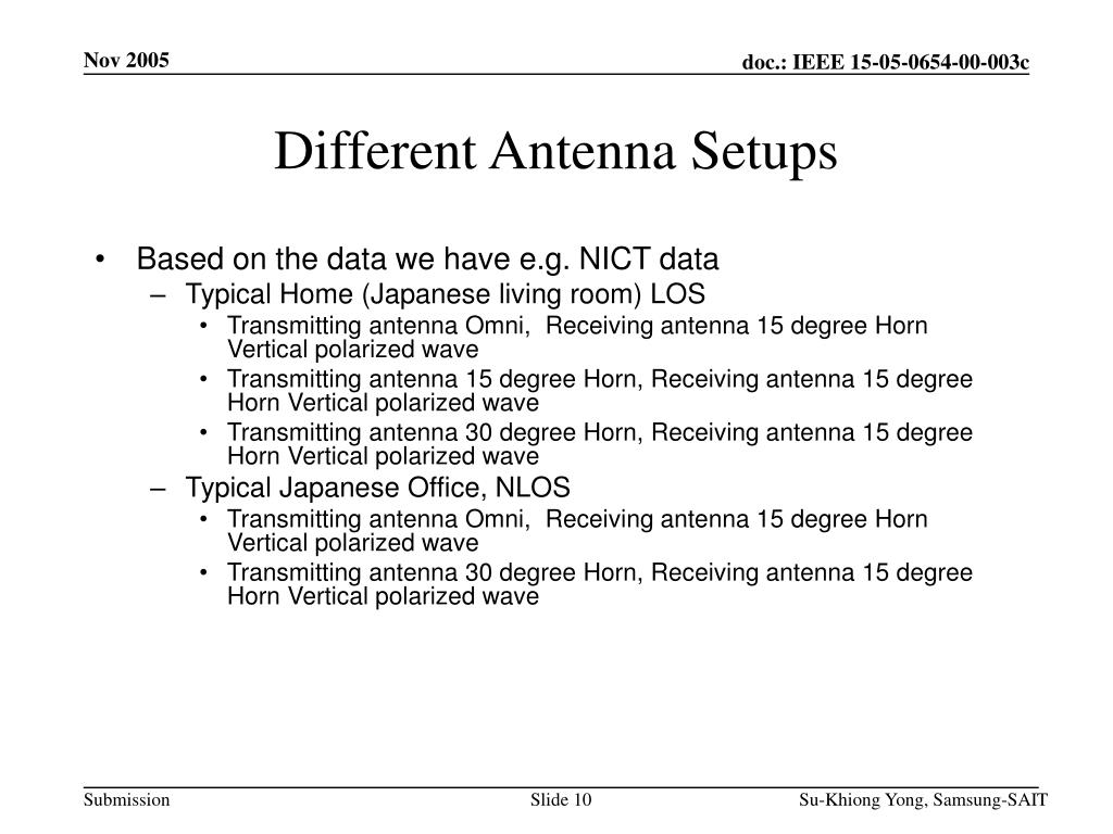 Different Antenna Setups