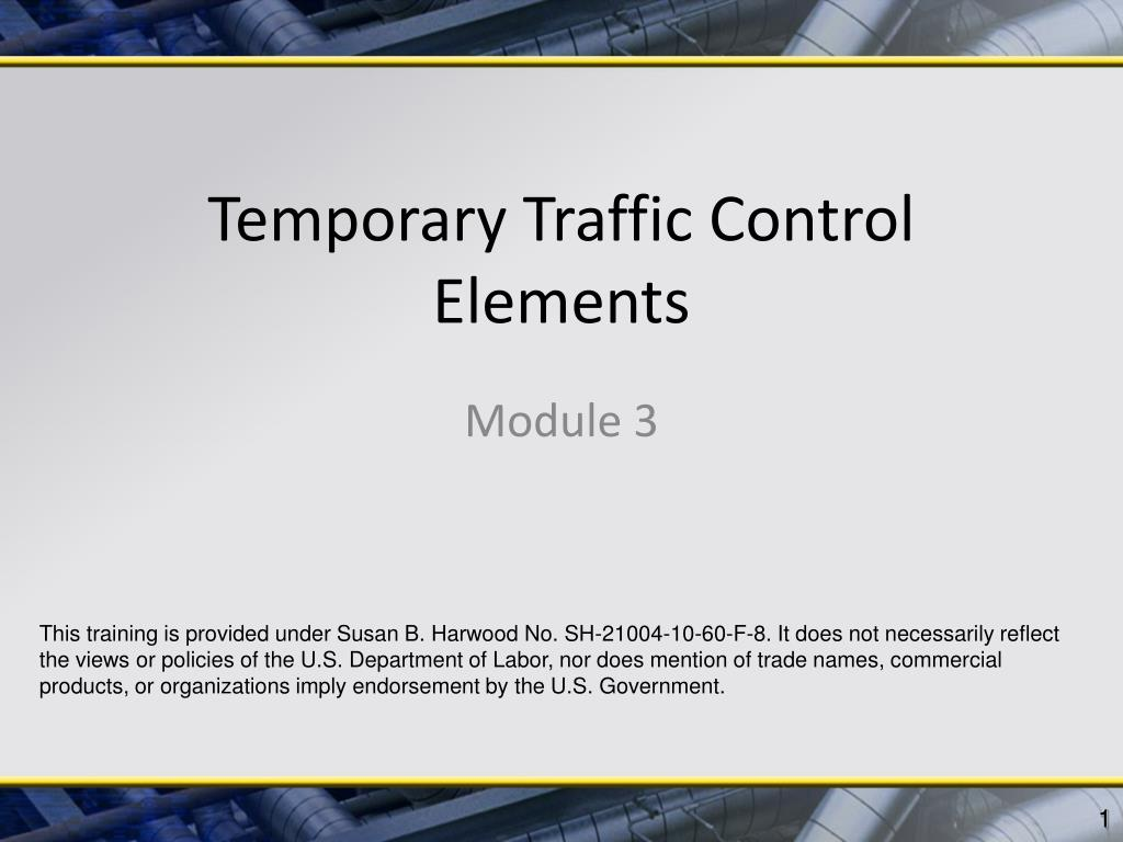temporary traffic control elements l.