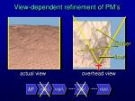 view dependent refinement of pm s