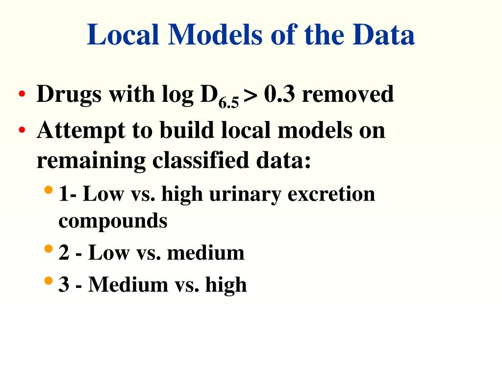 Local Models of the Data