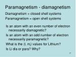 paramagnetism diamagnetism