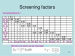 screening factors15