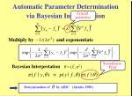 automatic parameter determination via bayesian interpretation