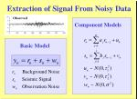 extraction of signal from noisy data