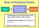 roles of statistical models
