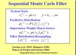 sequential monte carlo filter
