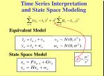 time series interpretation and state space modeling