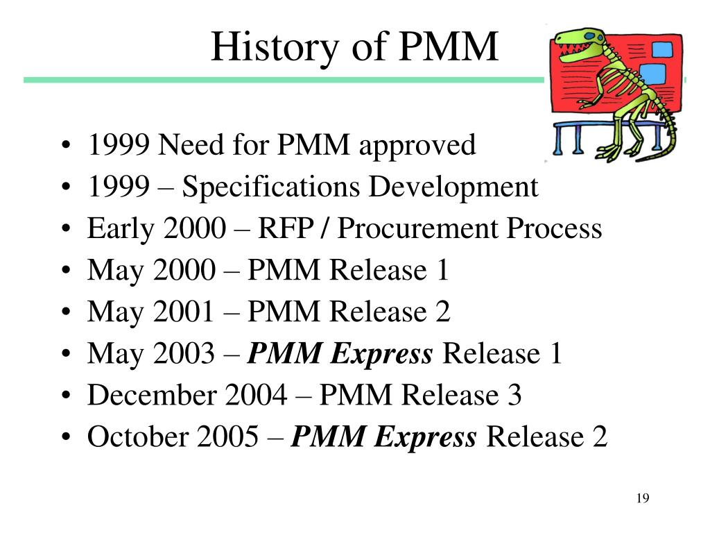 History of PMM