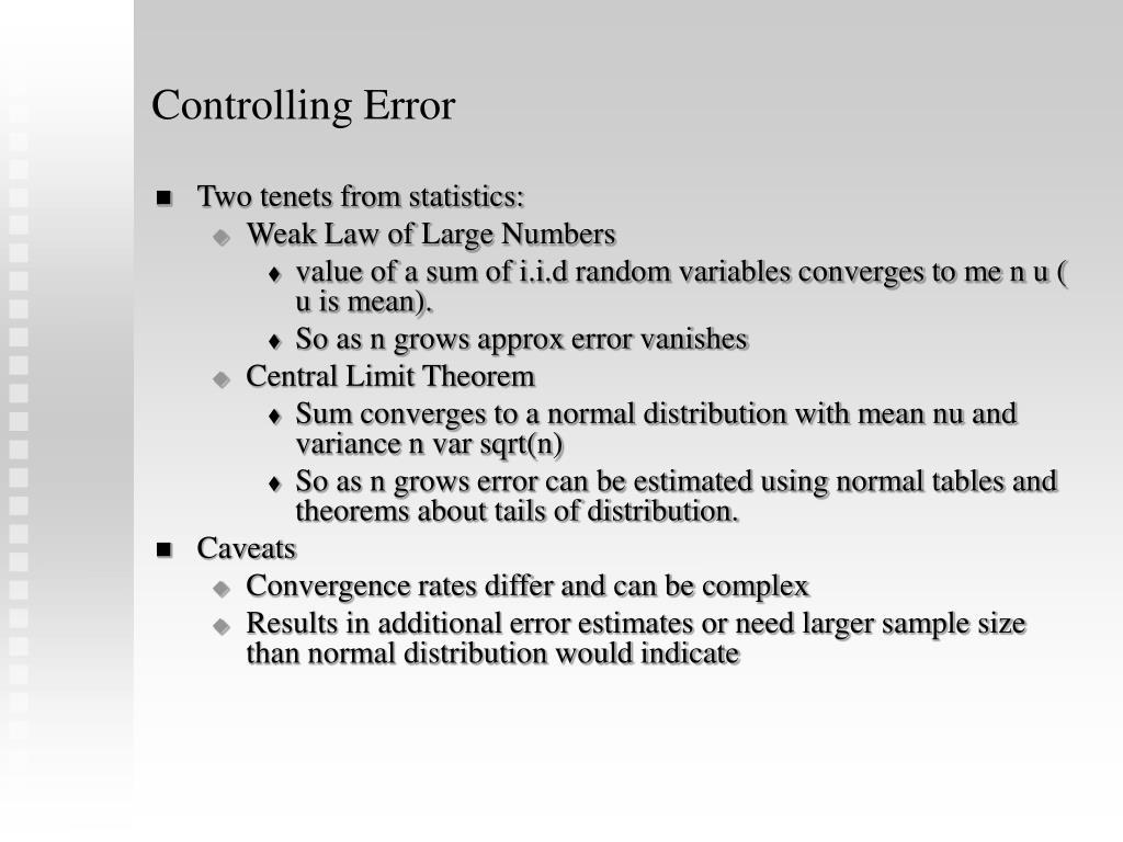 Controlling Error
