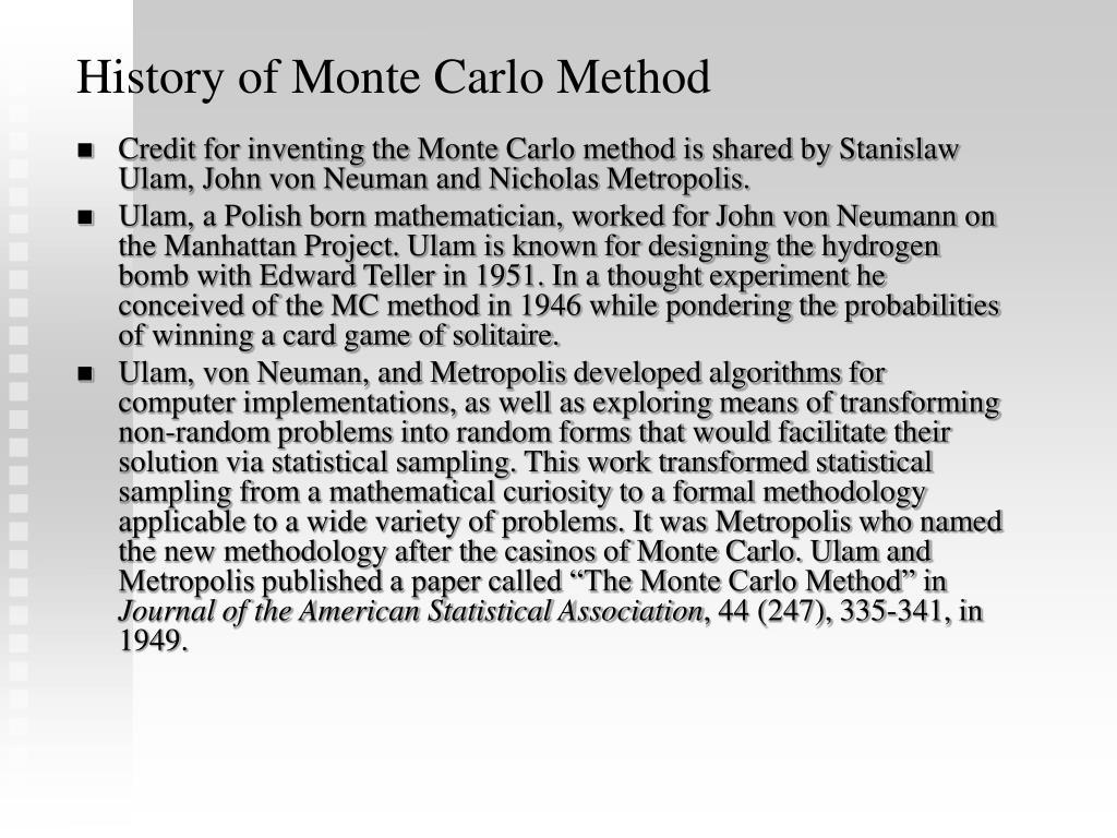 History of Monte Carlo Method