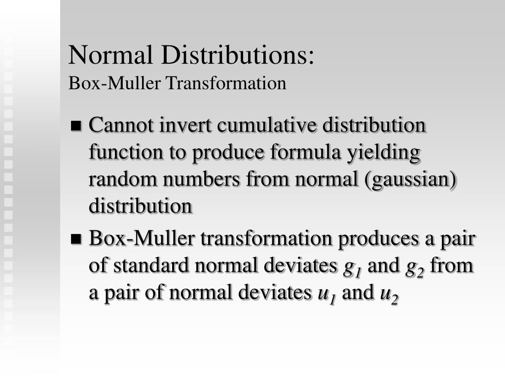 Normal Distributions: