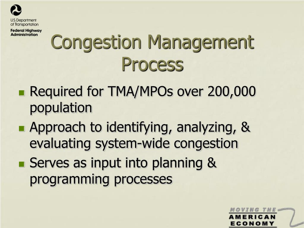 Congestion Management Process