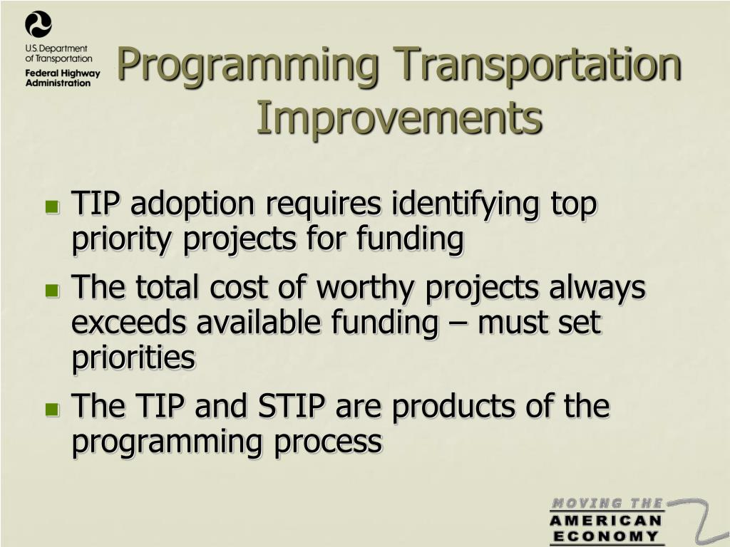 Programming Transportation Improvements