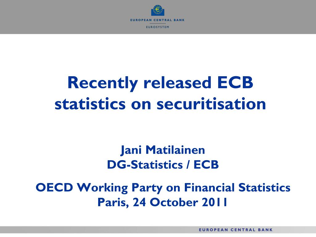 recently released ecb statistics on securitisation l.