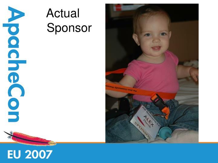 Actual sponsor