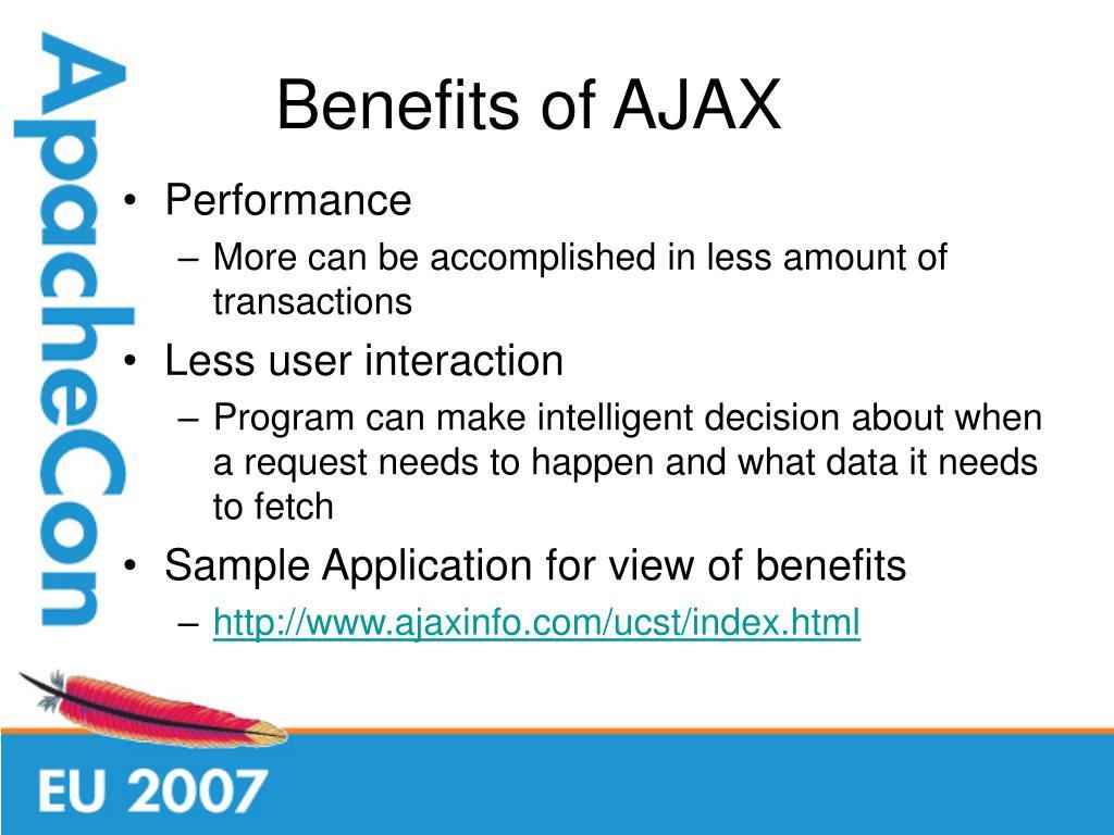 Benefits of AJAX