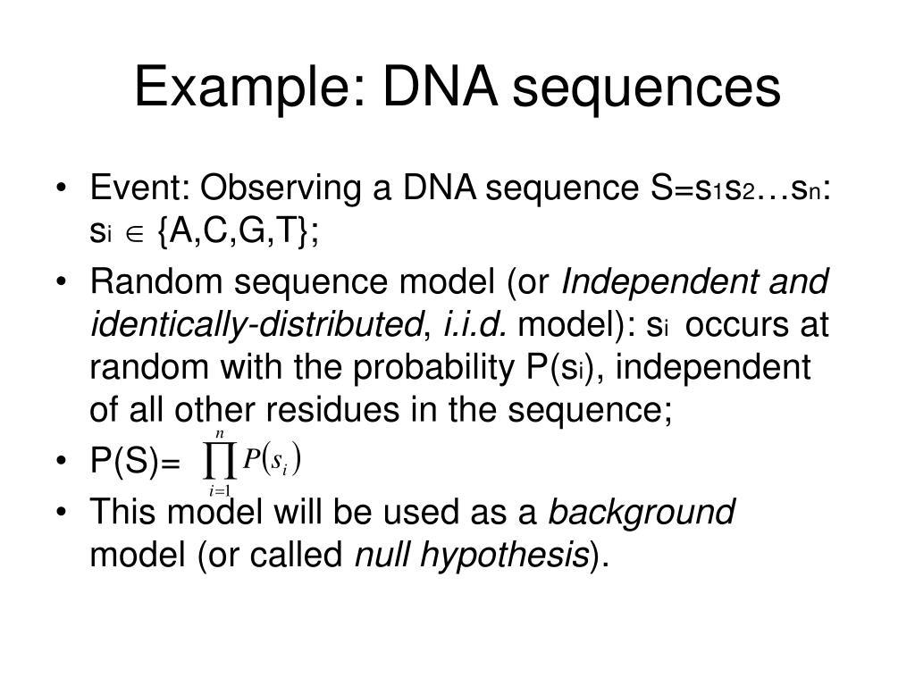 Example: DNA sequences