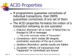 acid properties
