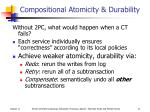 compositional atomicity durability