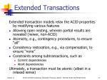 extended transactions
