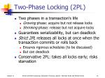 two phase locking 2pl
