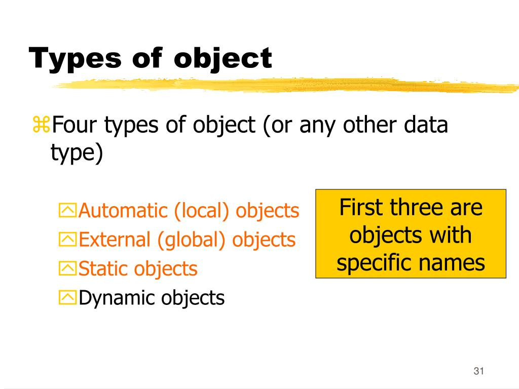 Types of object