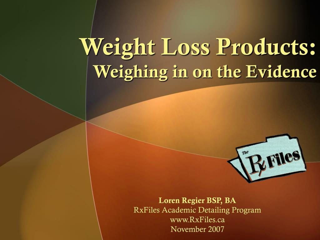 weight loss products weighing in on the evidence l.