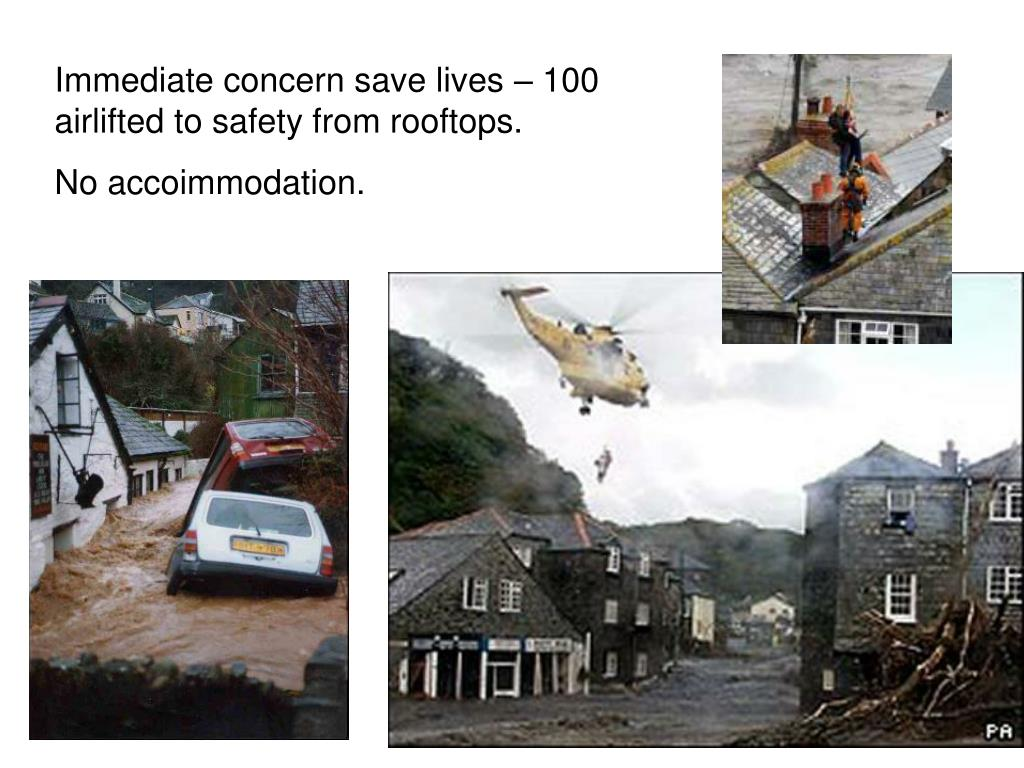 Immediate concern save lives – 100 airlifted to safety from rooftops.