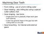 machining gear teeth
