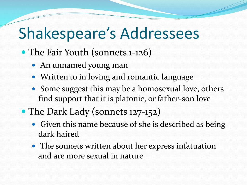 Shakespeare's Addressees