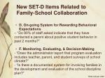 new set d items related to family school collaboration