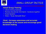 small group tactics29