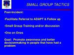 small group tactics31