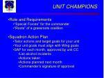 unit champions