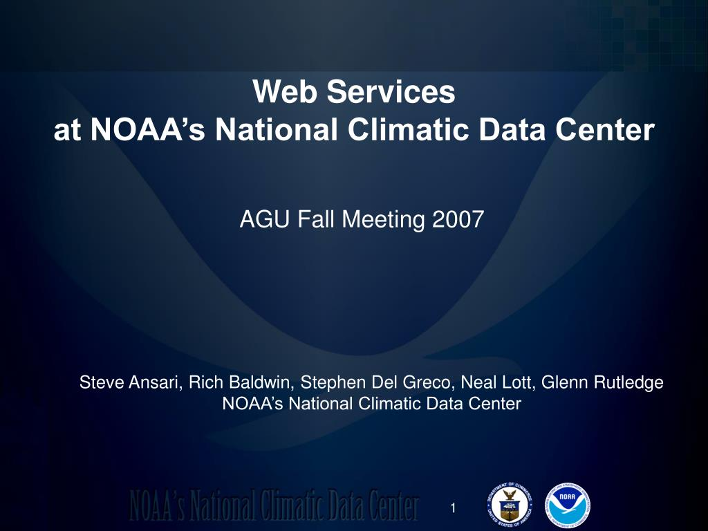 web services at noaa s national climatic data center l.