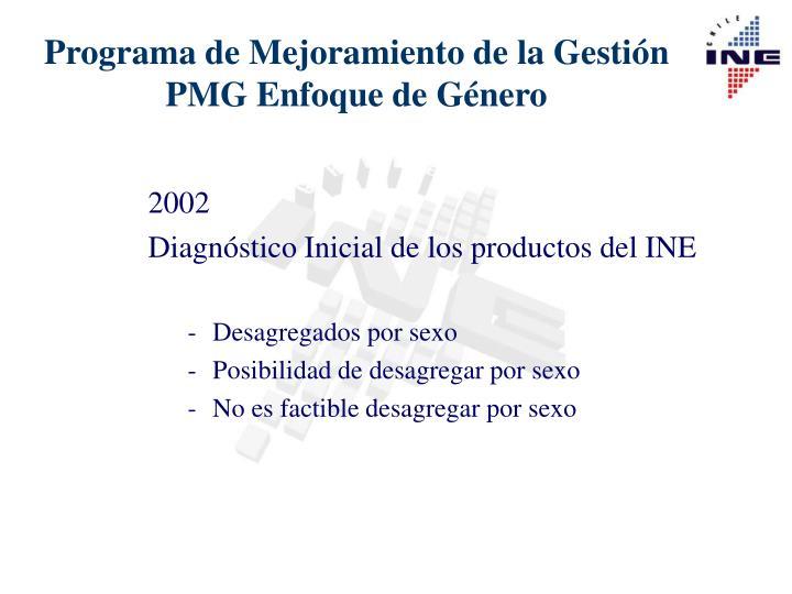 Programa de mejoramiento de la gesti n pmg enfoque de g nero