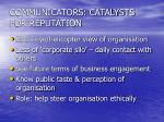 communicators catalysts for reputation