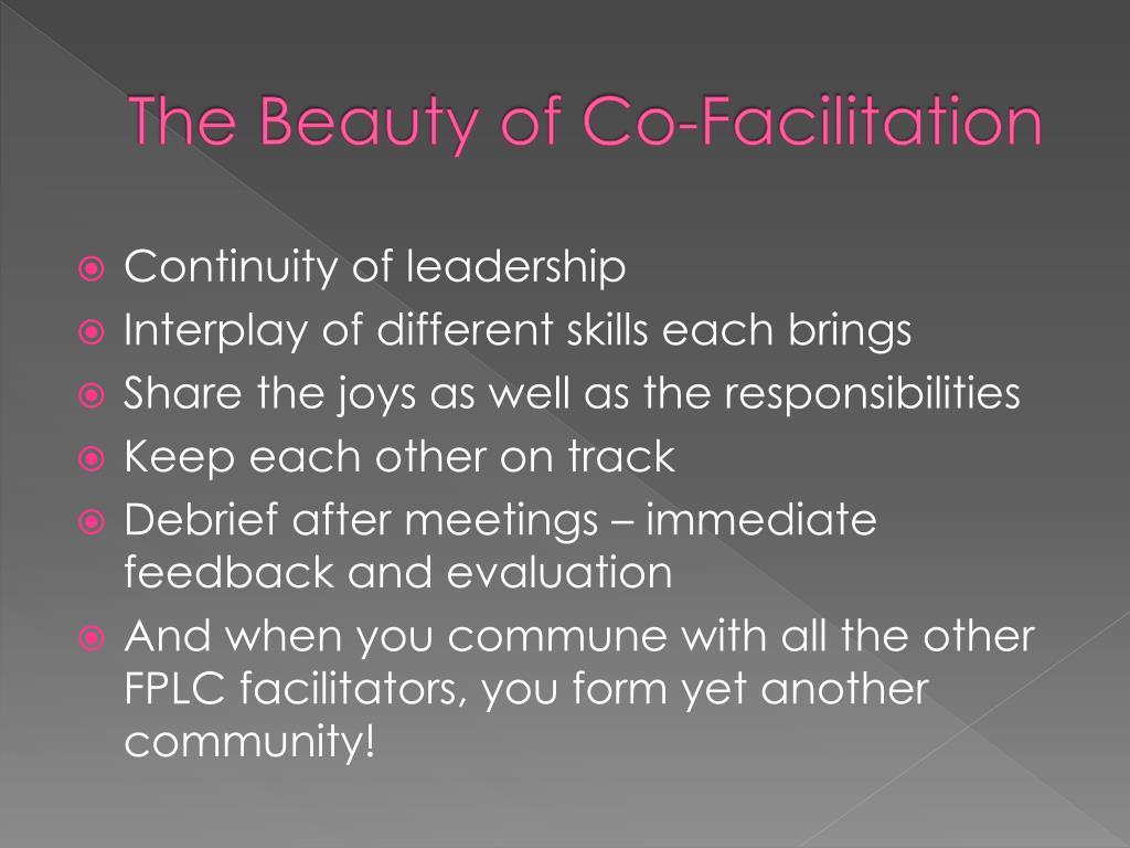 The Beauty of Co-Facilitation