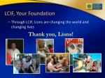 lcif your foundation40