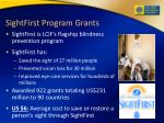 sightfirst program grants