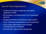 tips for grant applications