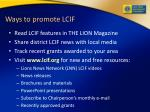 ways to promote lcif